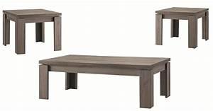 Coaster 701686 Grey Wood Coffee Table Set Steal A Sofa