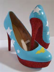 Wonder Woman High Heel Shoes