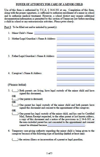 parental guardianship  minor child power