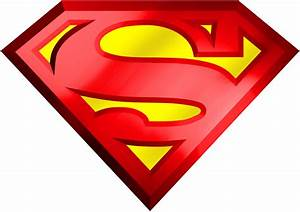 Superman Logo 3D Transparent PNG