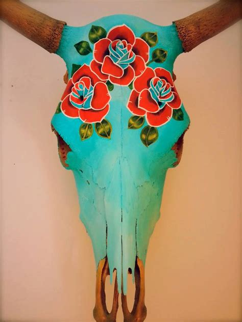 Decorated Cow Skulls Images by Painted Steer Skulls Beautiful Bespoke Uniquely