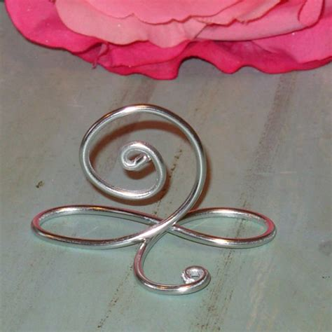silver table number holders 100 silver infinity bow wire name place cards or small