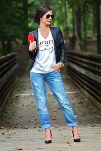 Pinterest Boyfriend Jeans Outfit | Blazer graphic tee distressed boyfriend jeans u0026 heels= chic ...