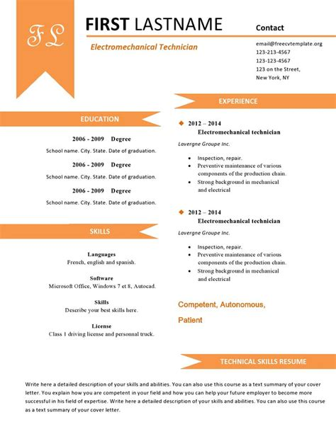 Pages Cv Template Free by Free Cv Resume Templates 480 To 487 Free Cv Template