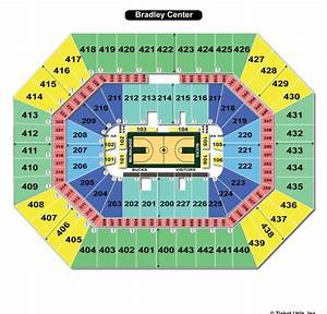 Bradley Center Seating Chart With Rows And Seat Numbers ...