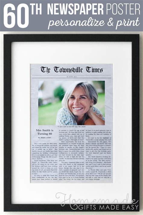 birthday newspaper gag gift