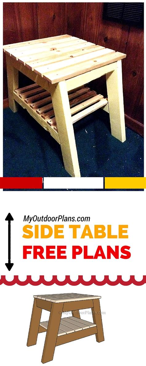 build  outdoor side table easy  follow plans