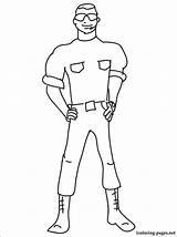 Guard Security Coloring Pages Printable Getcolorings Print Profession sketch template