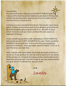 Santa letters to print at home santa letter templates for Christian letter from santa claus