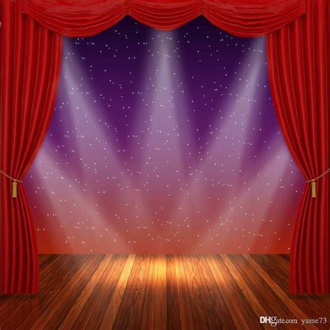 xft vinyl red curtain star spotlight stage wood
