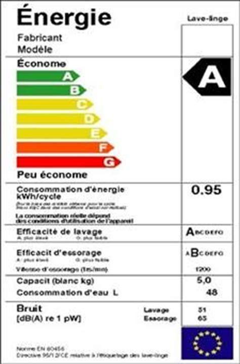 etiquette energie lave vaisselle l 233 tiquette 233 nergie particuliers rseipc
