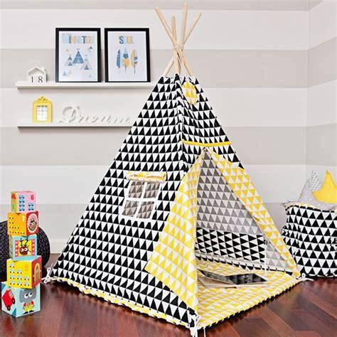 Tipi Zelt Kinderzimmer Dawanda by Wohnaccessoires Tipi Quot Kontrast Dreieck Quot Ein