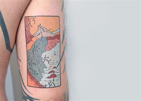japanese inspired woodblocks imagined  tattoos  brindi