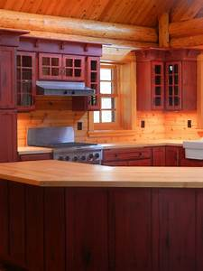 Rustic Red Kitchen Cabinets Barebones Ely