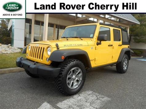 yellow jeep wrangler unlimited  cars   jersey