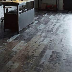 Revetement Sol Vinyl : rev tement sol pvc saloon street silver taupe 4 m ~ Premium-room.com Idées de Décoration