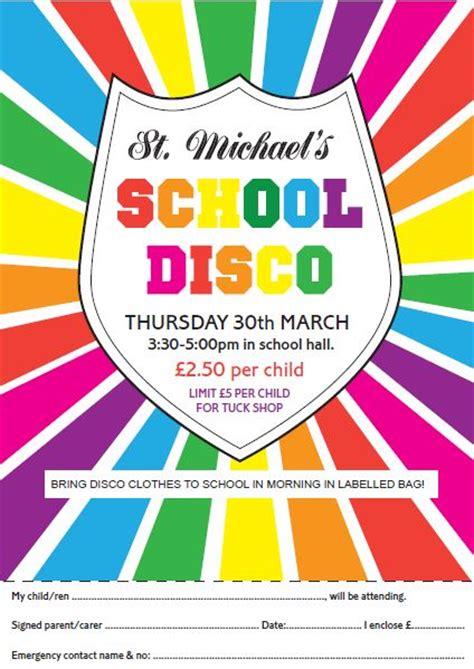 school disco thursday  march st michaels ce