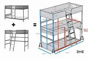 Triple bunk bed DIY - IKEA Hackers