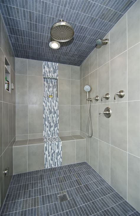 Master Bathroom Tile Designs by Beautiful Tilework Highlights This Steam Shower Tile
