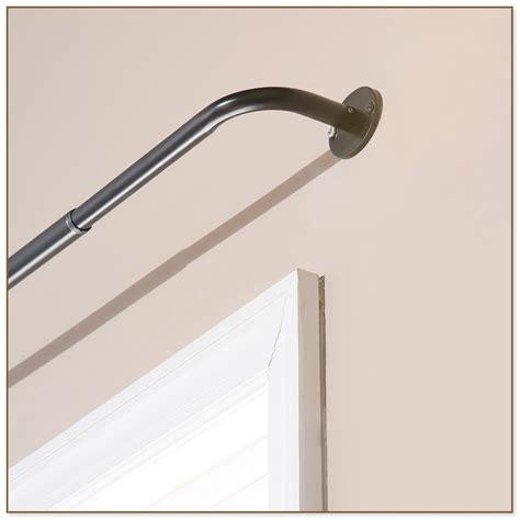 curtain rods wrap around adjustable curved shower curtain rod rubbed bronze