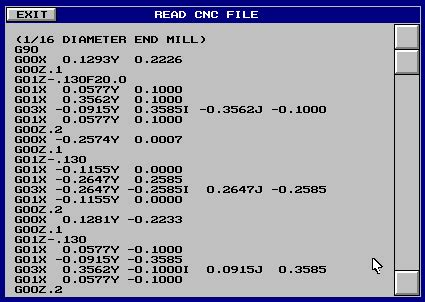 CNC Input Codes and Format