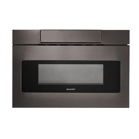sharp    cu ft built  microwave drawer  concealed controls  black stainless