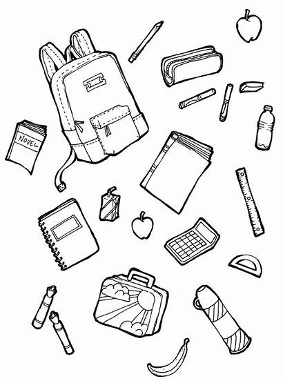 Supplies Coloring Pages Drawing Draw Drawings Printable