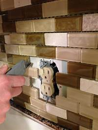 cutting glass tile backsplash Under $350 Kitchen Makeover – Part Three Backsplash ...