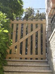 Portillon Bois Jardin : portillon en bois de palettes recyclage et cie ~ Preciouscoupons.com Idées de Décoration