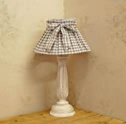 Gingham Lamp by Bowley Amp Jackson French Shabby Chic Vintage Lamp Bowley