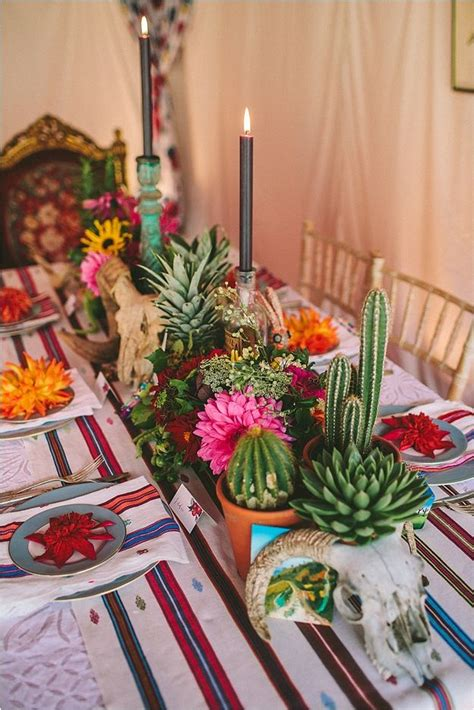 mexican table setting ideas  pinterest