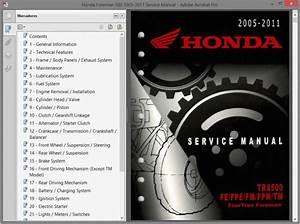 Honda Trx500fe-fpe-fm-fpm-tm  2005-11