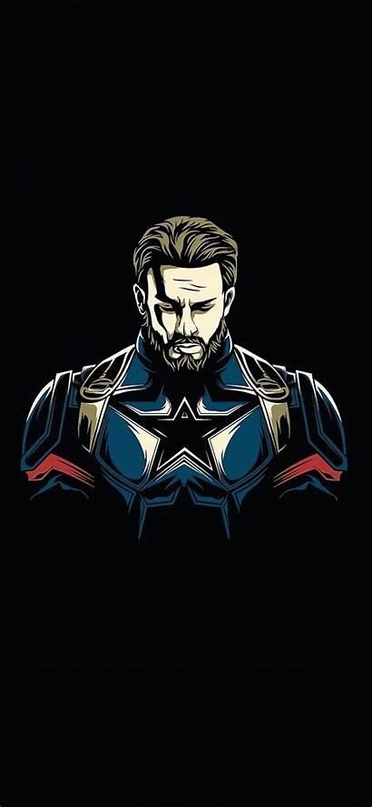 Captain America Minimalist Wallpapers 4k Marvel Avenger