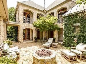 Outdoor Tuscan Style House Plans With Courtyard HOUSE