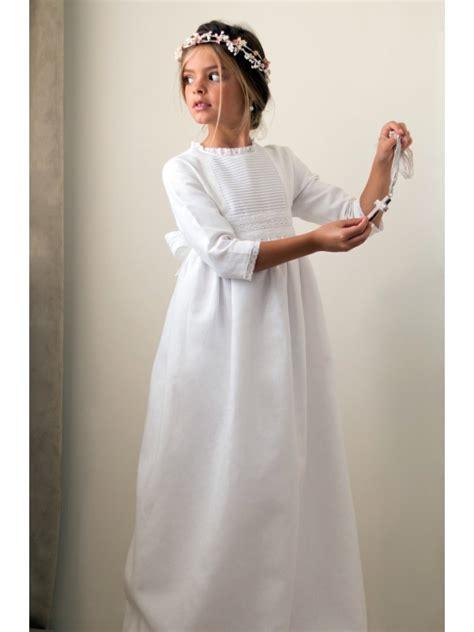 vestido de comunion candela lazada encaje  incluida