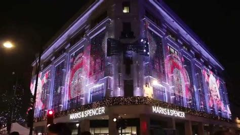 christmas decoration marks spencer oxford street london