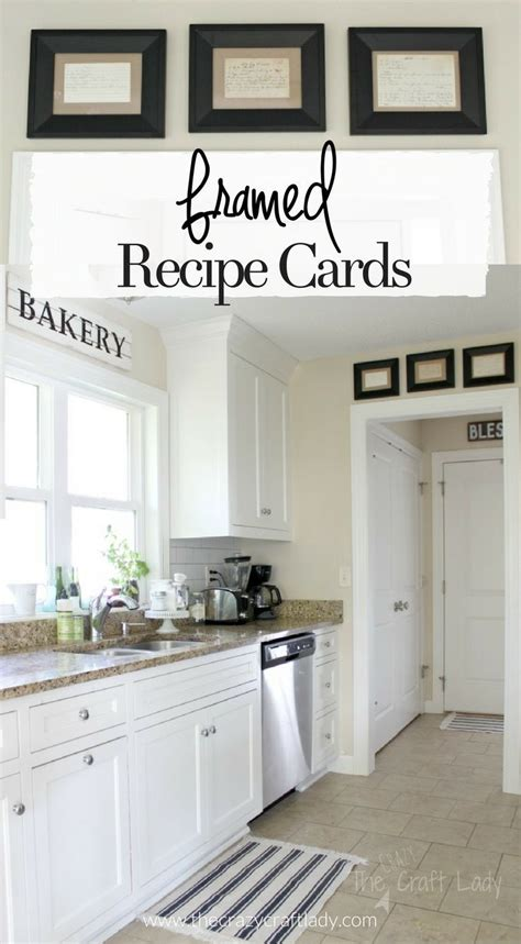 Decorating Ideas For The Kitchen by Framed Recipe Cards Diy Projects For The Home Kitchen