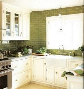 green kitchen cabinets pictures green glass subway tile kitchen backsplash ivory 4002