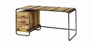 Bureau Bois Pas Cher : bureau en bois pas cher ~ Teatrodelosmanantiales.com Idées de Décoration