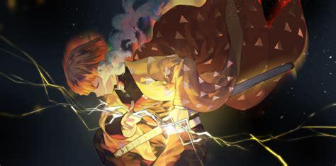 wallpaper demon slayer zenitsu agatsuma kimetsu  yaiba