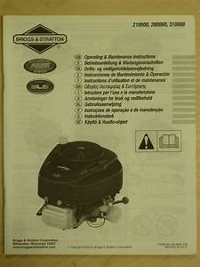 2004 Briggs  U0026 Stratton Operating Maintenance Instructions
