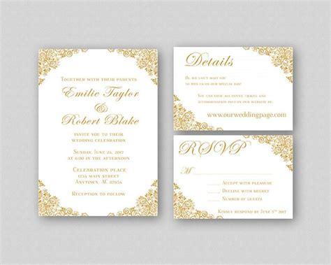 wedding invitations gold wedding invitation suite
