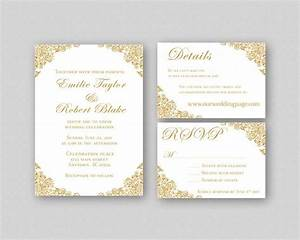 wedding invitations gold wedding invitation suite With free printable golden wedding invitations