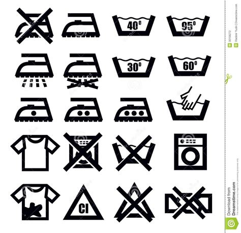 pictogramme de lavage du linge segni e vestiti di lavaggio illustrazione vettoriale illustrazione 30156272
