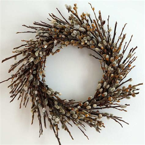 how to make a willow wreath dried pussy willow wreath 18 quot