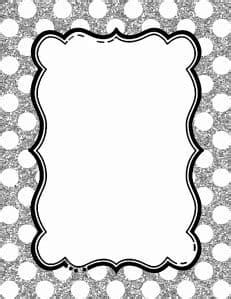 polka dot border templates   colors instant