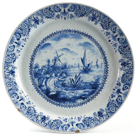 Delfter Porzellan Preise by Delft Pottery Dish Circular Harbor