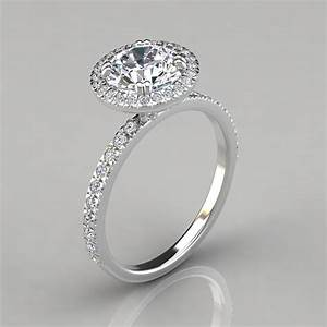 french cut pave halo style engagement ring puregemsjewels With halo style wedding rings