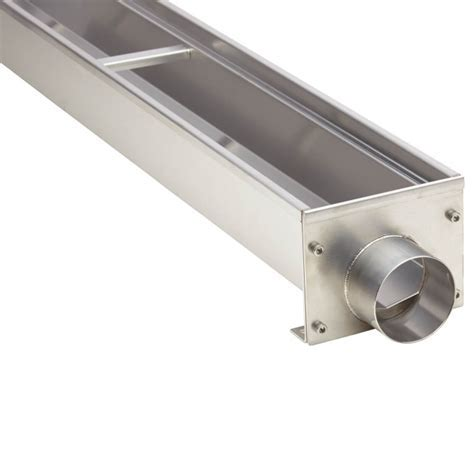 Wade Wide End Outlet Outdoor Linear Shower Drain   Outdoor