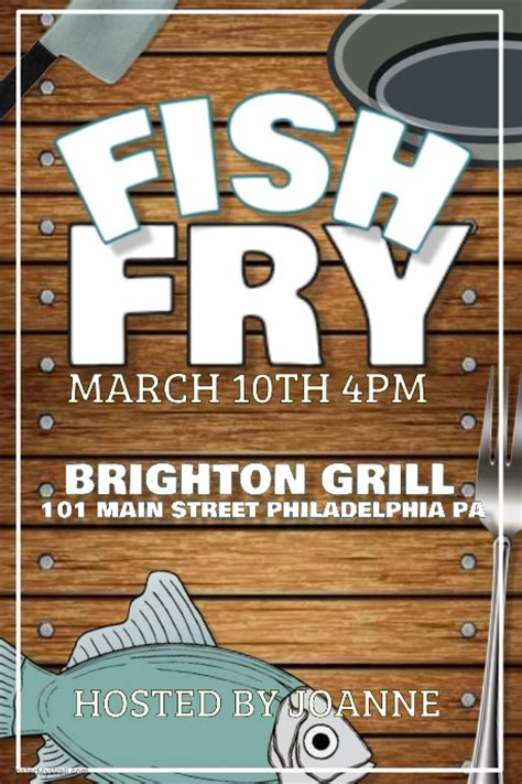 fish fry template postermywall